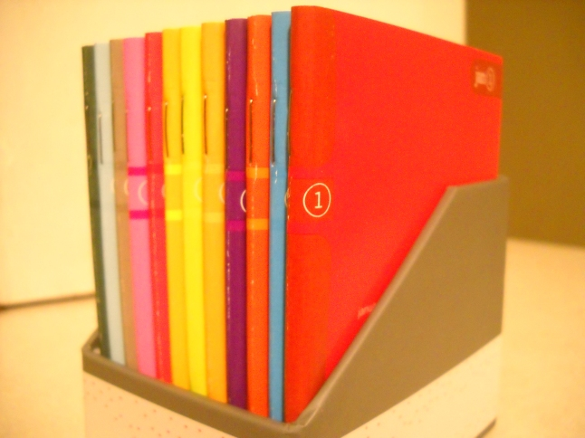 A rainbow of notebooks
